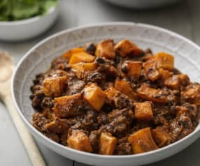 Allergen Friendly Roasted Butternut Squash and Black Bean Chilli