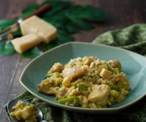 綠咖哩雞燉飯