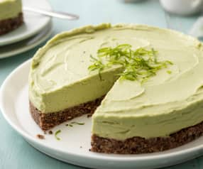 Avocado Lime Cheesecake (No Added Sugar)