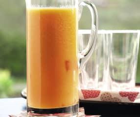 Zumo de papaya y naranja