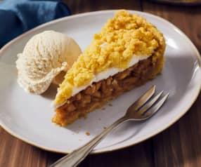 Apfelkuchen mit Baiser und Streuseln (Jabłecznik)