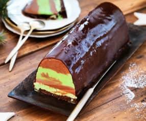 Bûche glacée menthe-chocolat