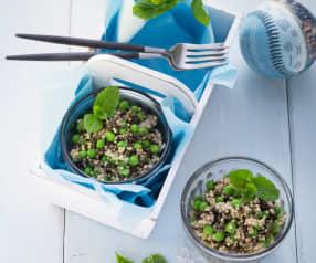Hirse-Linsen-Salat mit Minze