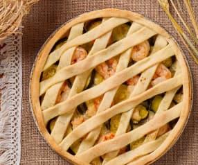 Torta salata zucchine e gamberi