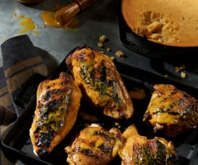 Carolina BBQ Chicken with Skillet Cornbread