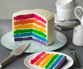 Rainbow cake (tarta arcoíris)