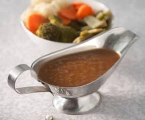 Salsa de carne. Verduras al vapor