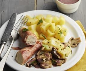 Ballotine de poulet au jambon, sauce chasseur