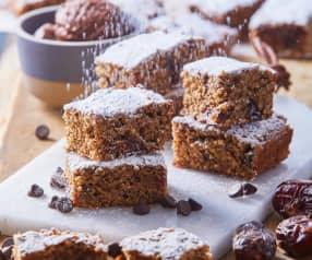 Barra de dátiles y chocolate sin gluten