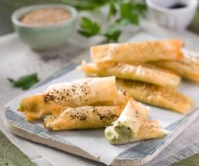Rollitos de alcachofa y parmesano