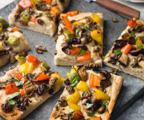 Potato Pizza with Vegetables - Pizza di patate con verdure