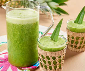 Pineapple Spinach and Orange Juice