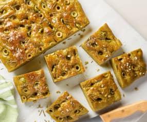 Focaccia spinaci e olive
