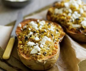 Stuffed Butternut Squash with Feta