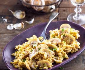 Weizen Risotto mit Champignons