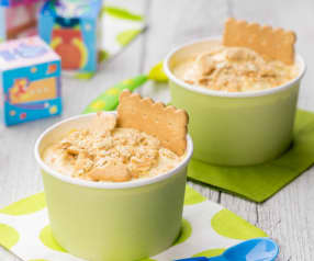 Coppetta gelato al biscotto e miele