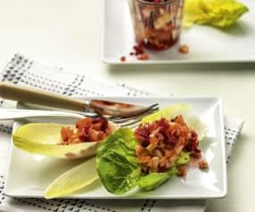 Salade van gehakte groenten