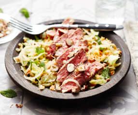Faux-filet mariné et salade thaïe