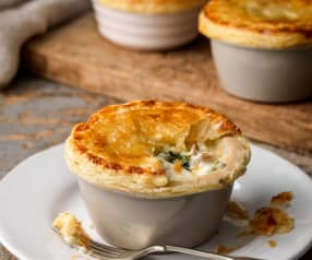 Haddock, Leek and Stilton Pies