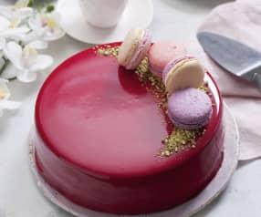 Tort czekoladowy z polewą lustrzaną (mirror glaze)