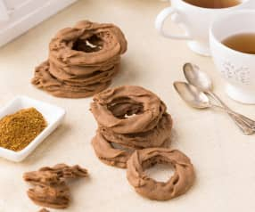 Biscotti di frolla montata al cacao e habanero orange