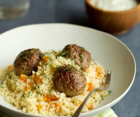 Lamb Meatballs with Couscous and Mint Yoghurt