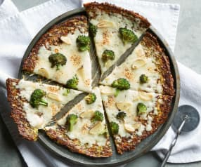 Broccoli Pizza Crust with Cheese