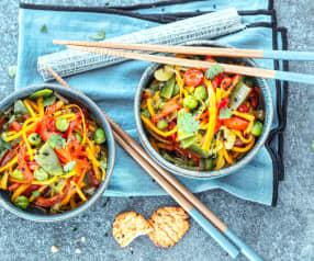 Curry de légumes façon wok