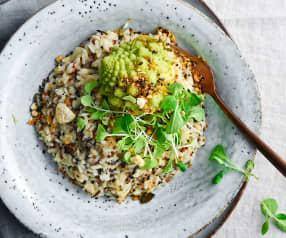 Quinotto au riz sauvage et mini-choux