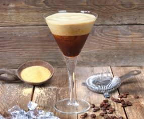 Eiskaffee gerührt
