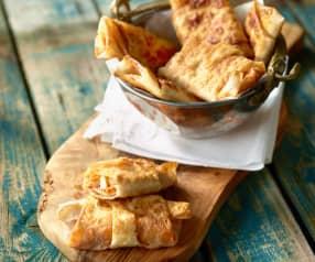 Yufka-Taschen mit Gemüse und Pastırma - Paçanga Böreği