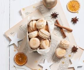 Piernikowe makaroniki z kremem pomarańczowym