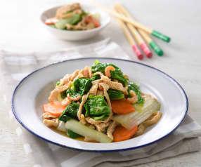 小白菜炒豆包