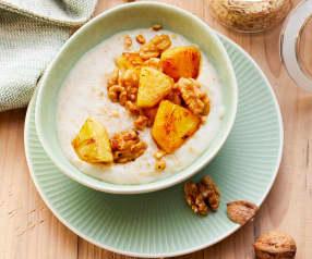 Porridge mit Ananas