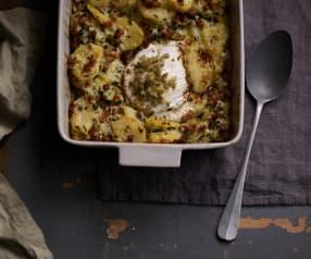 Queijo gratinado com batatas