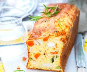 Cake carotte-courgette-chèvre