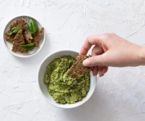 Basil, avocado and hemp pesto