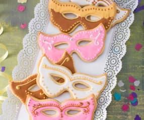 Máscaras de carnaval de pasta frolla