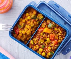 Mix di cereali con ceci e verdure alla curcuma (vegan)