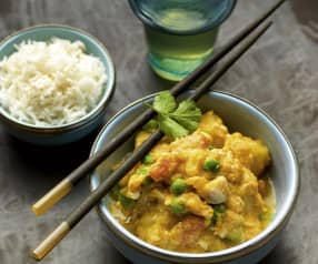 Snelle Thaise kipcurry