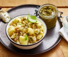 Salade de bulots, pommes de terre, pesto de câpres et persil