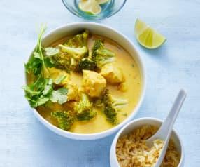 Kokos-Hähnchen-Curry mit Vollkornreis