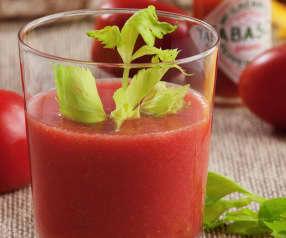 Zumo de tomate preparado