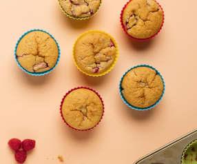 Haferflocken-Himbeer-Muffins
