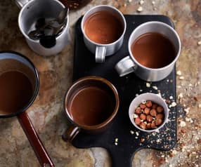 Chocolate quente de avelã