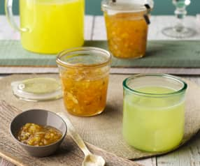 Mermelada y refresco de cítricos
