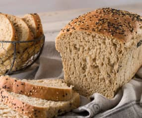 Pan integral con harina multicereales