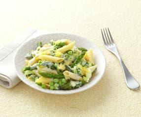 Zeleno - bílé těstoviny