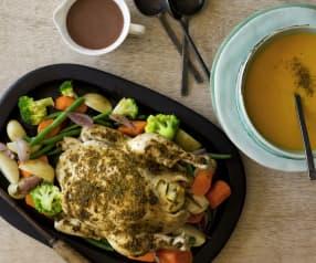 Layered chicken dinner