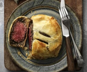 Individual Beef Wellingtons with Red Wine Jus